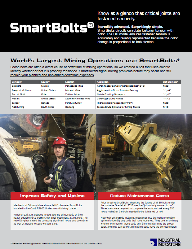Heavy Equipment | SmartBolts.com