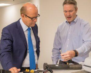 Congressman impressed with SmartBolts innovation.